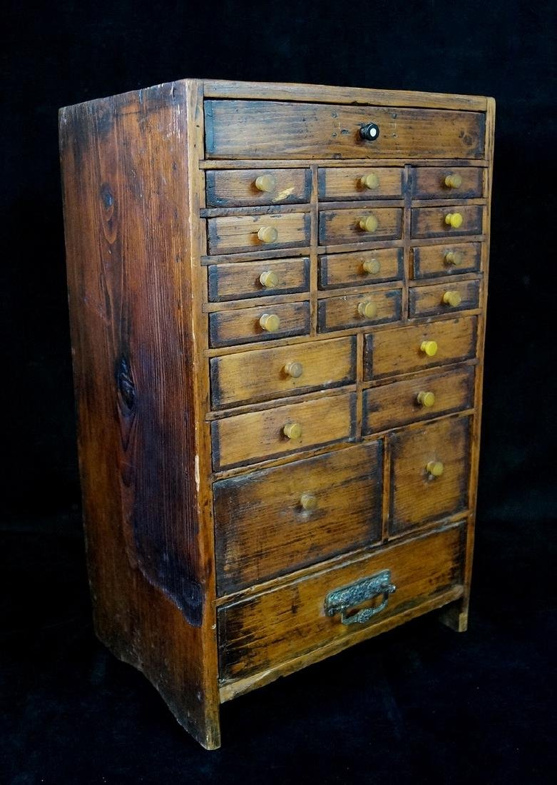 ANTIQUE DIMINUTIVE APOTHECARY CHEST - 2