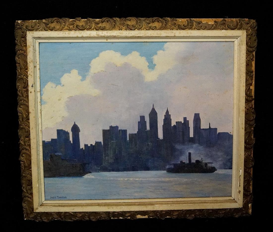 """JAMES TIMMENS SGN. O/B SKYLINE & PADDLE WHEELERS"""""""