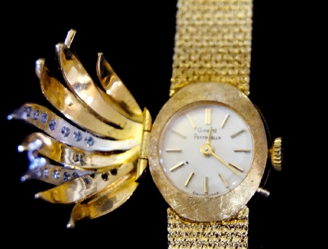 18 KT YELLOW GOLD & DIAMOND LADIES WATCH, JEWELRY