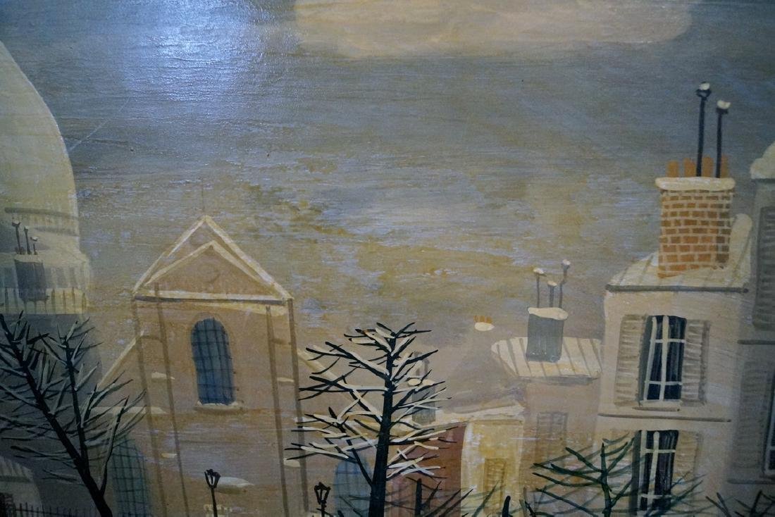 ARMAND GUERIN SIGNED OIL ON BOARD PARIS WINTER - 3