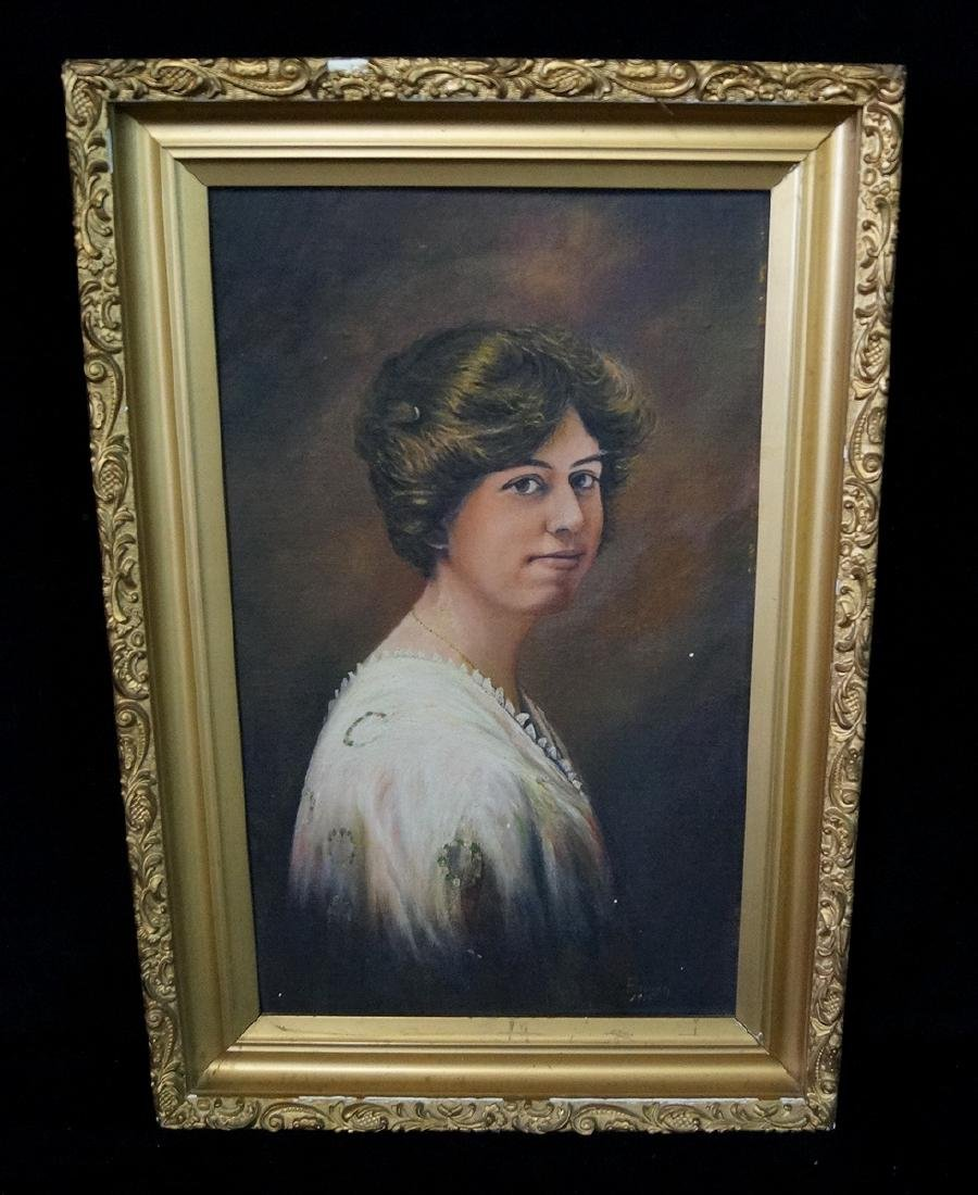 """BROWN SIGNED O/C """"PORTRAIT OF A WOMAN"""""""