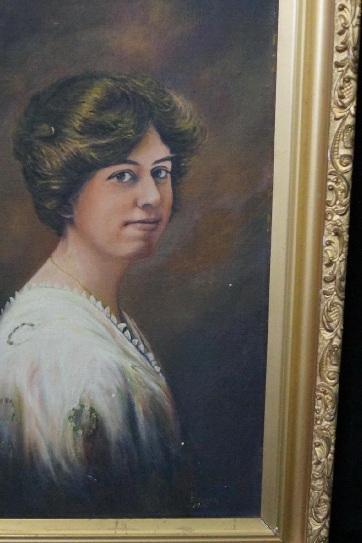 """BROWN SIGNED O/C """"PORTRAIT OF A WOMAN"""" - 2"""