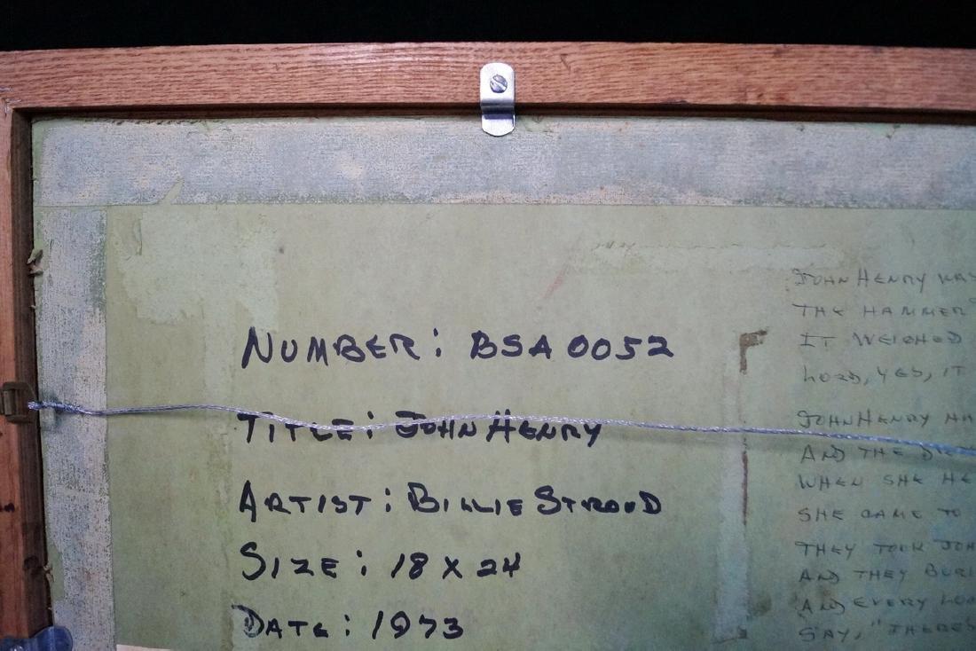 BILLIE STROUD ACRYLIC ON BOARD, JOHN HENRY - 9
