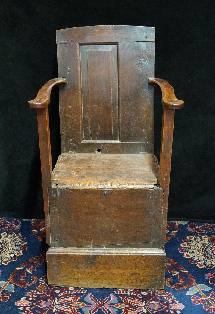 ANTIQUE MIXED WOODS POTTY/COMMODE - 2