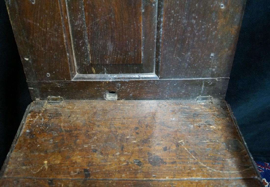 ANTIQUE MIXED WOODS POTTY/COMMODE - 3