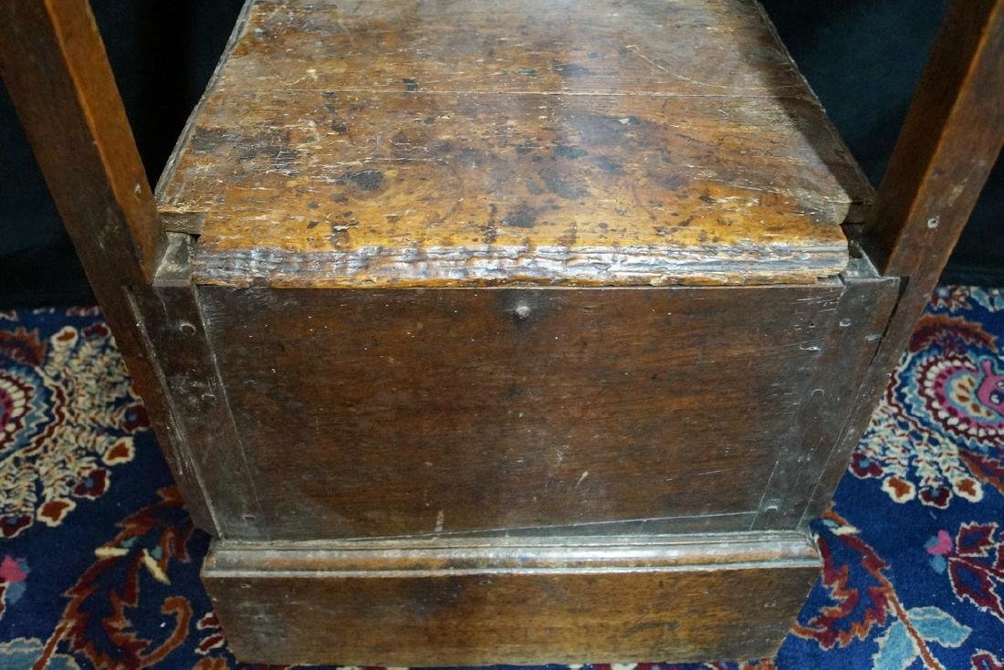 ANTIQUE MIXED WOODS POTTY/COMMODE - 4