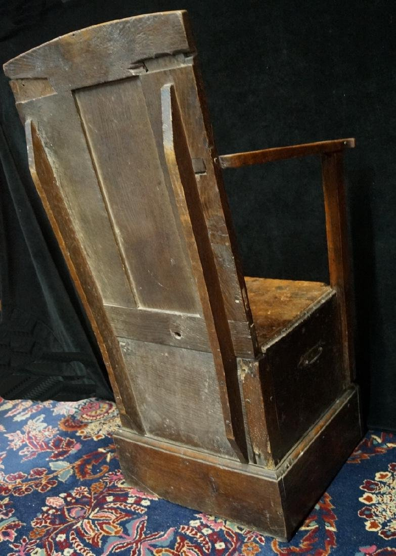 ANTIQUE MIXED WOODS POTTY/COMMODE - 7