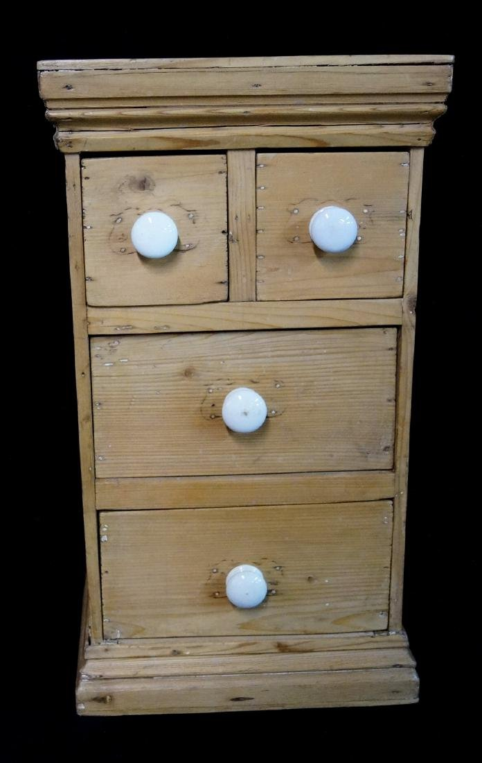 ANTIQUE ENGLISH PINE APOTHECARY CHEST