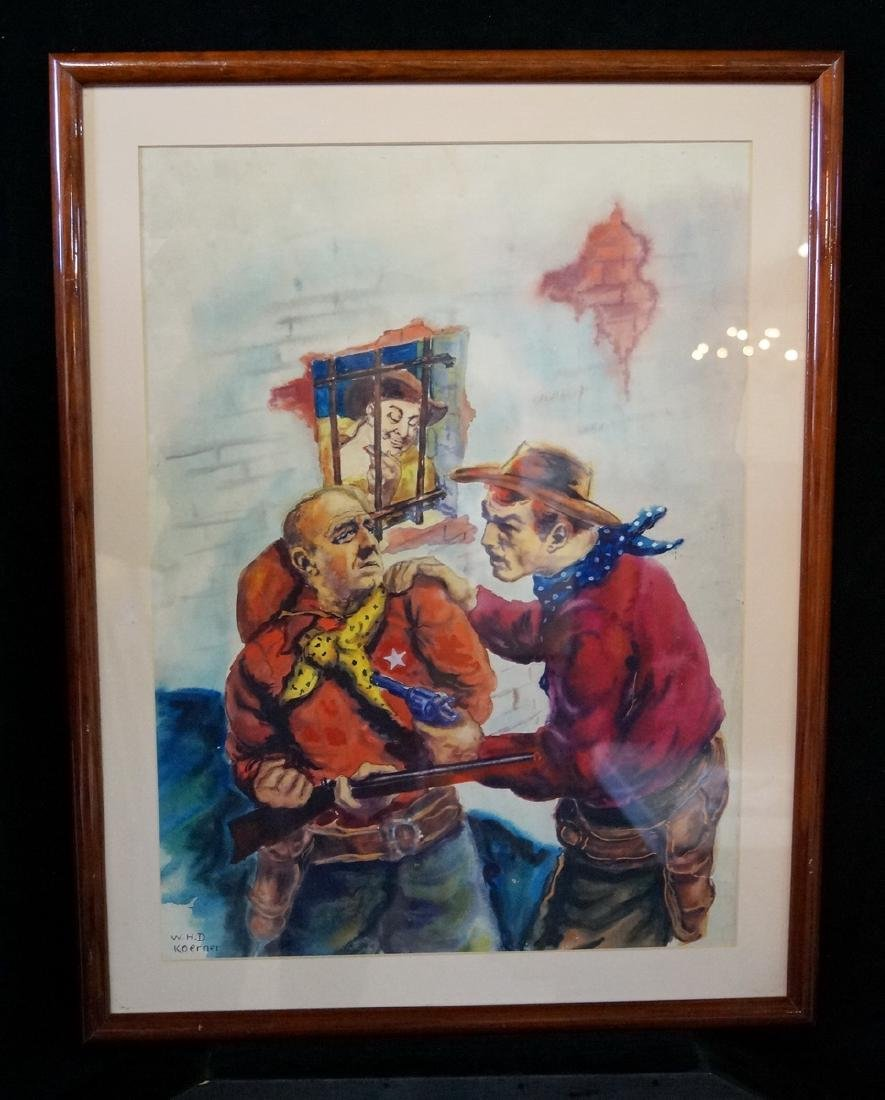 W. KOERNER SIGNED  ILLUSTRATION