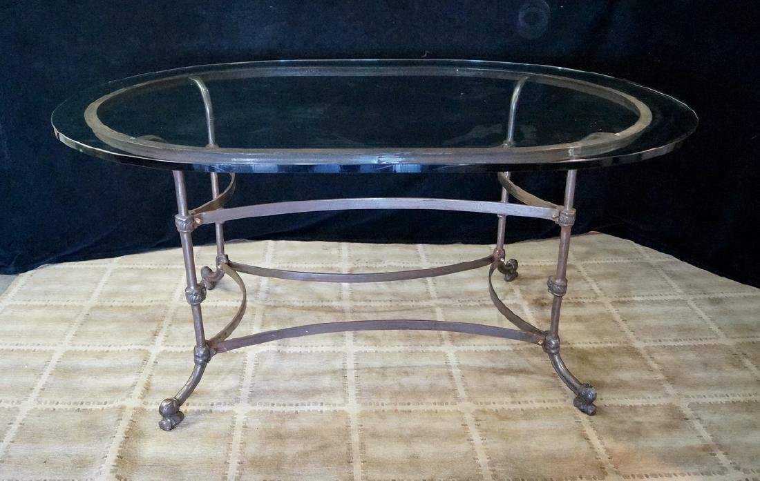 IRON & GLASS TOP TABLE