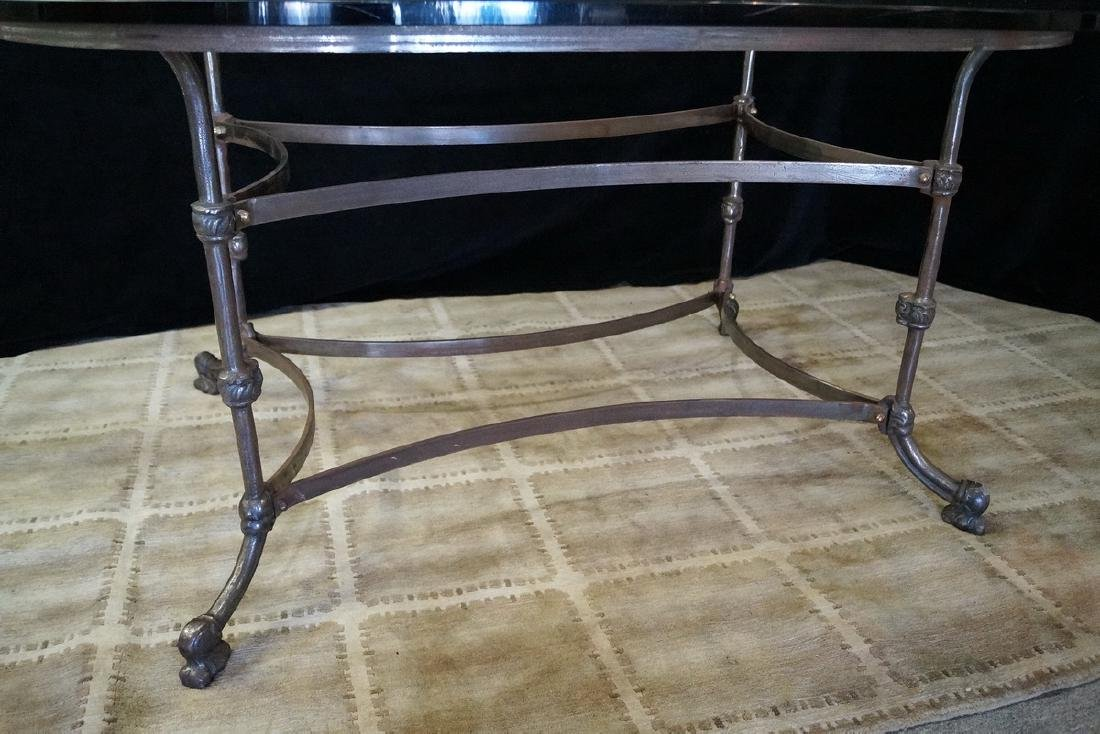 IRON & GLASS TOP TABLE - 4