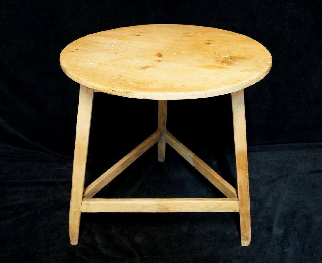 ANTIQUE ENGLISH PIE CRICKET TABLE