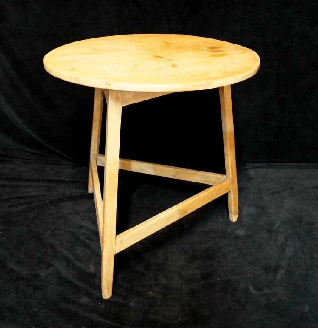 ANTIQUE ENGLISH PIE CRICKET TABLE - 2