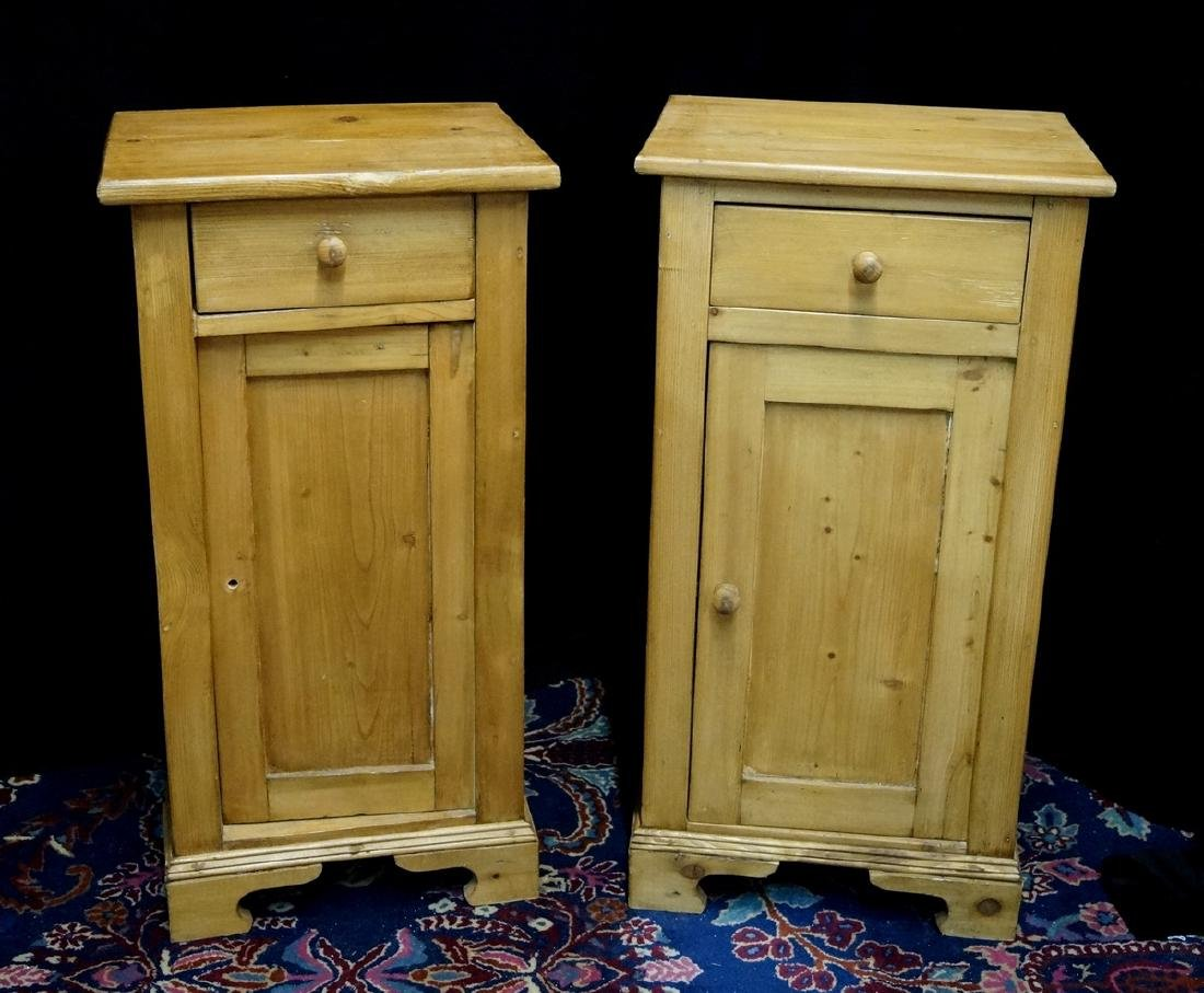 PR. ENGLISH PINE NIGHT STANDS