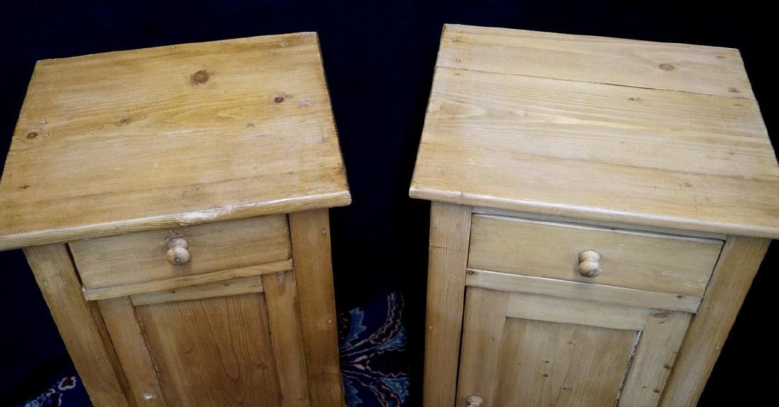 PR. ENGLISH PINE NIGHT STANDS - 4