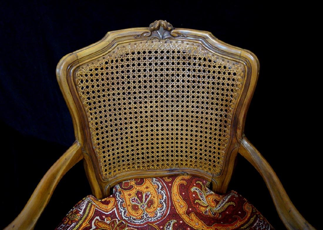 LOUIS XV STYLE CANED BACK FAUTEUILS - 2