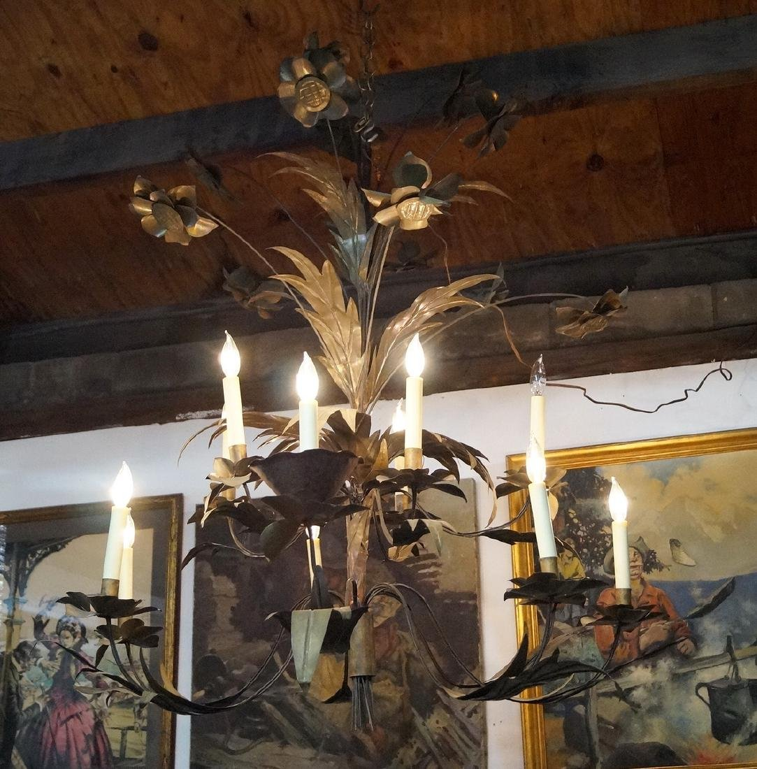 FRENCH TOLE 12 LIGHT CHANDELIER