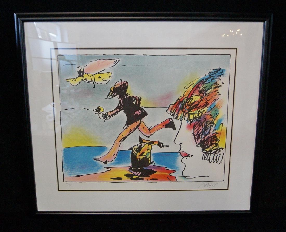 PETER MAX SGN. COLOR LITHOGRAPH