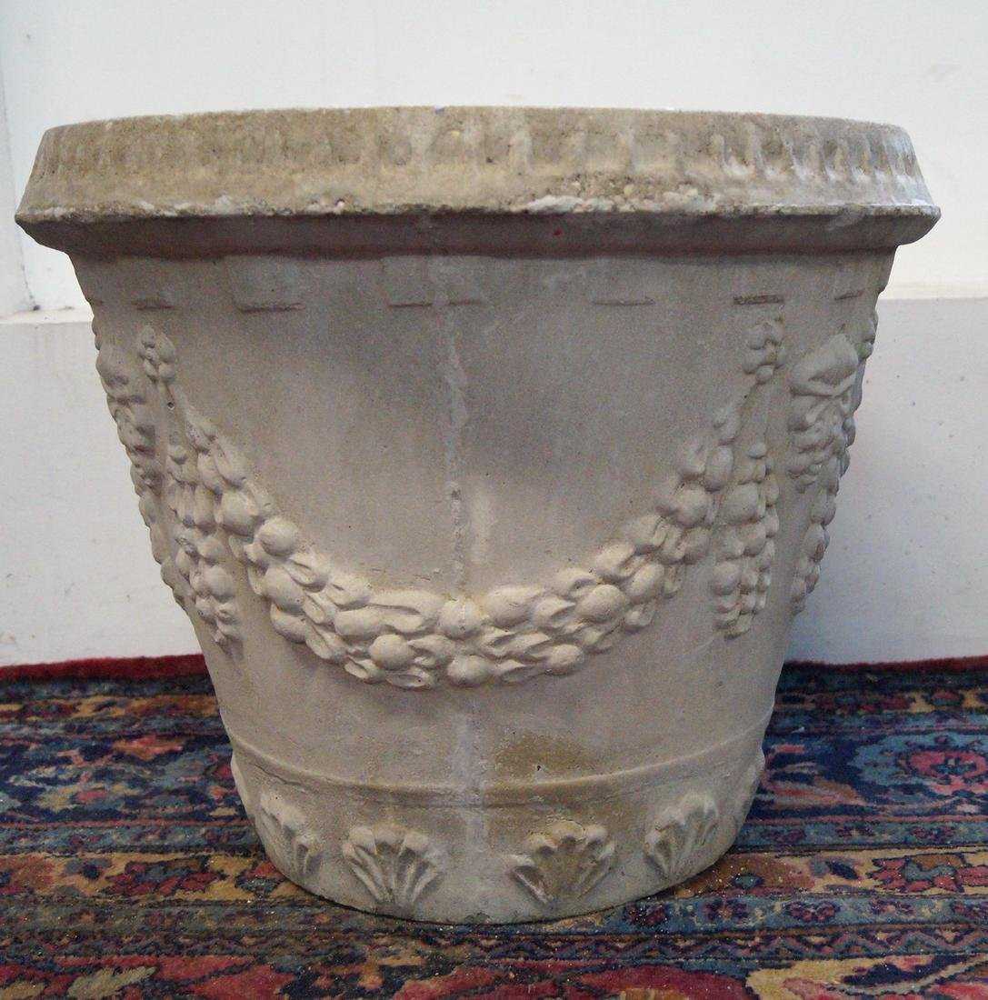 CAST CONCRETE GRAPE MOTIF PLANTER