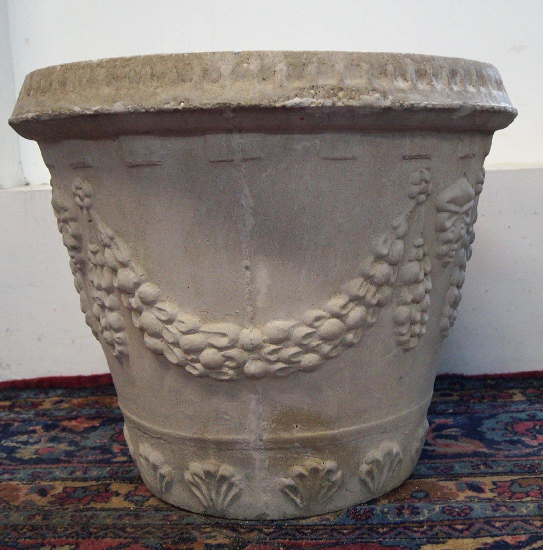 CAST CONCRETE GRAPE MOTIF PLANTER - 2