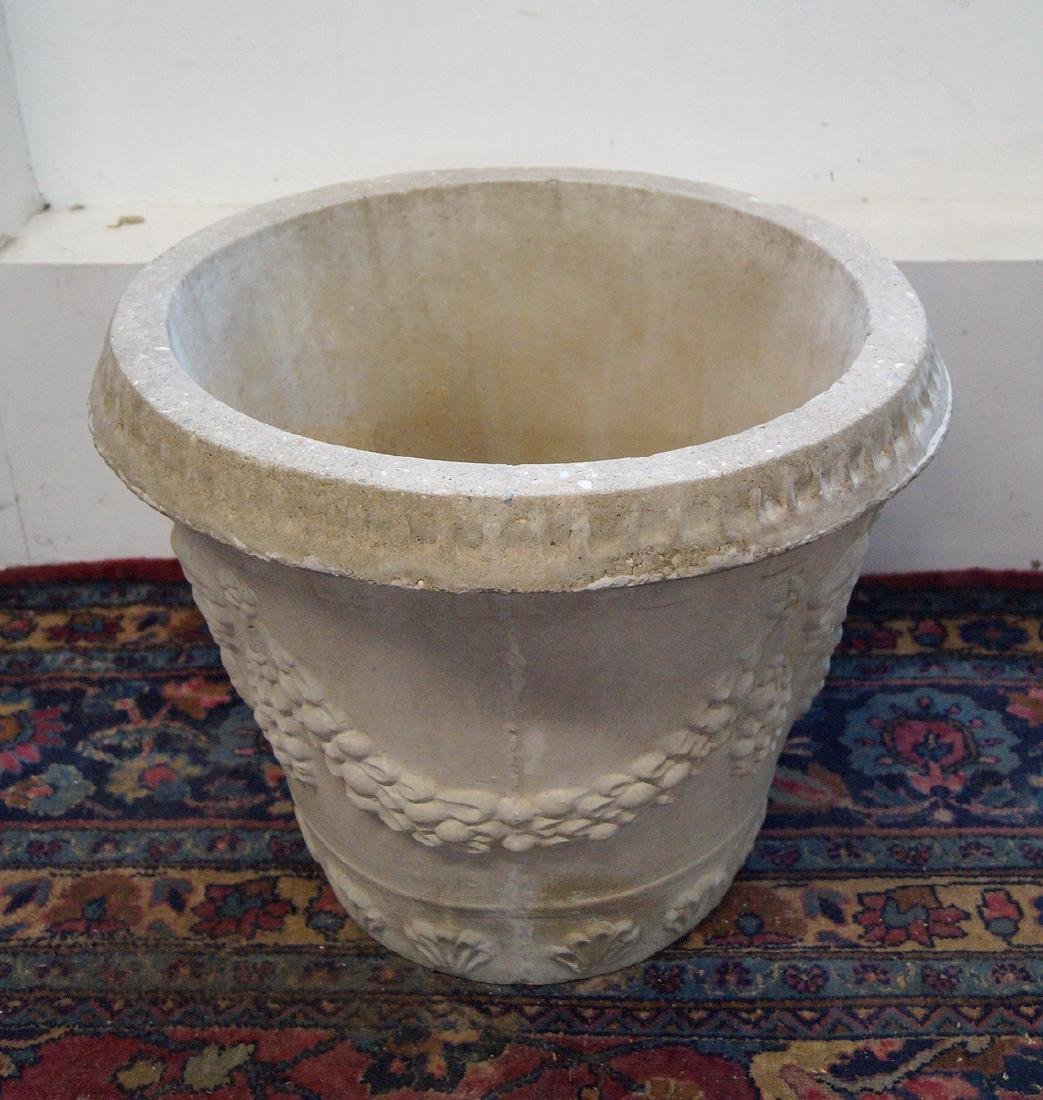 CAST CONCRETE GRAPE MOTIF PLANTER - 3