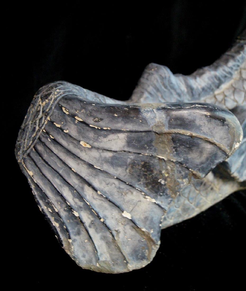 FINISHED CONCRETE FISH FIGURAL FOUNTAIN - 2