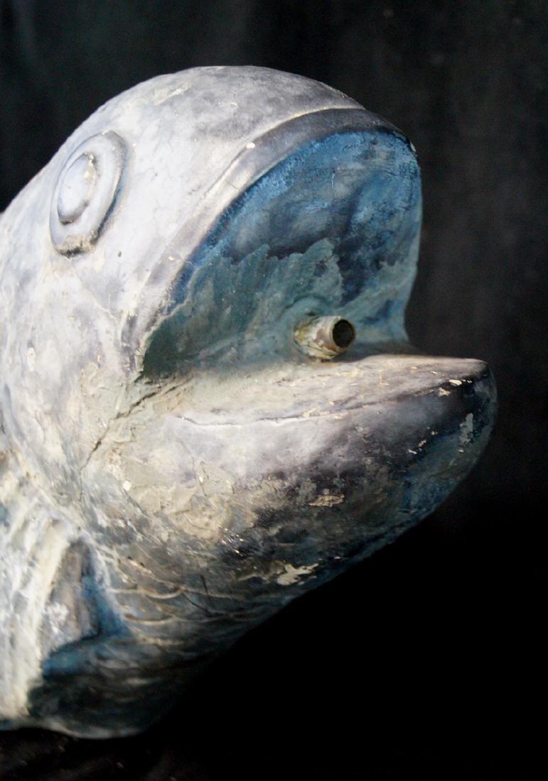 FINISHED CONCRETE FISH FIGURAL FOUNTAIN - 3