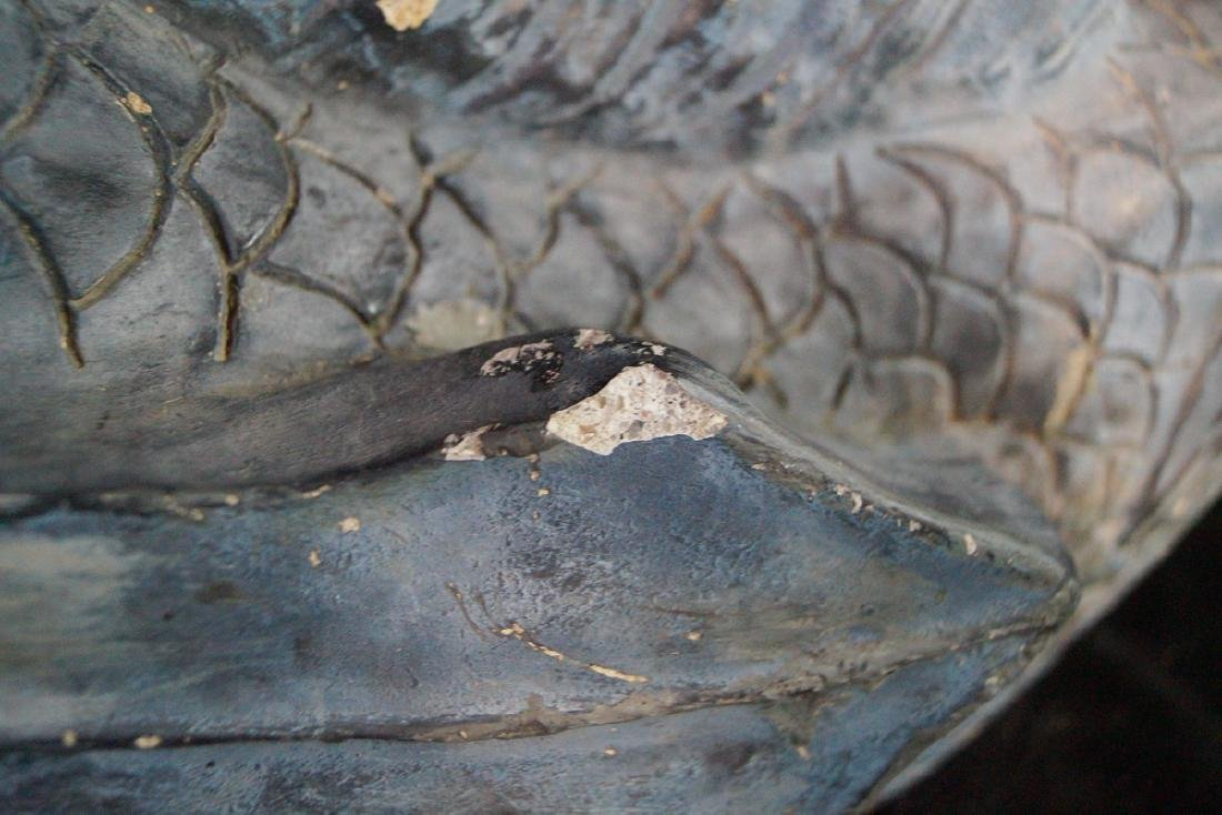 FINISHED CONCRETE FISH FIGURAL FOUNTAIN - 5