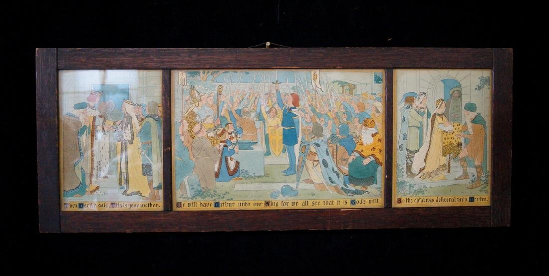 LUCY FITCH PERKINS LITHOGRAPH TRIPTYCH