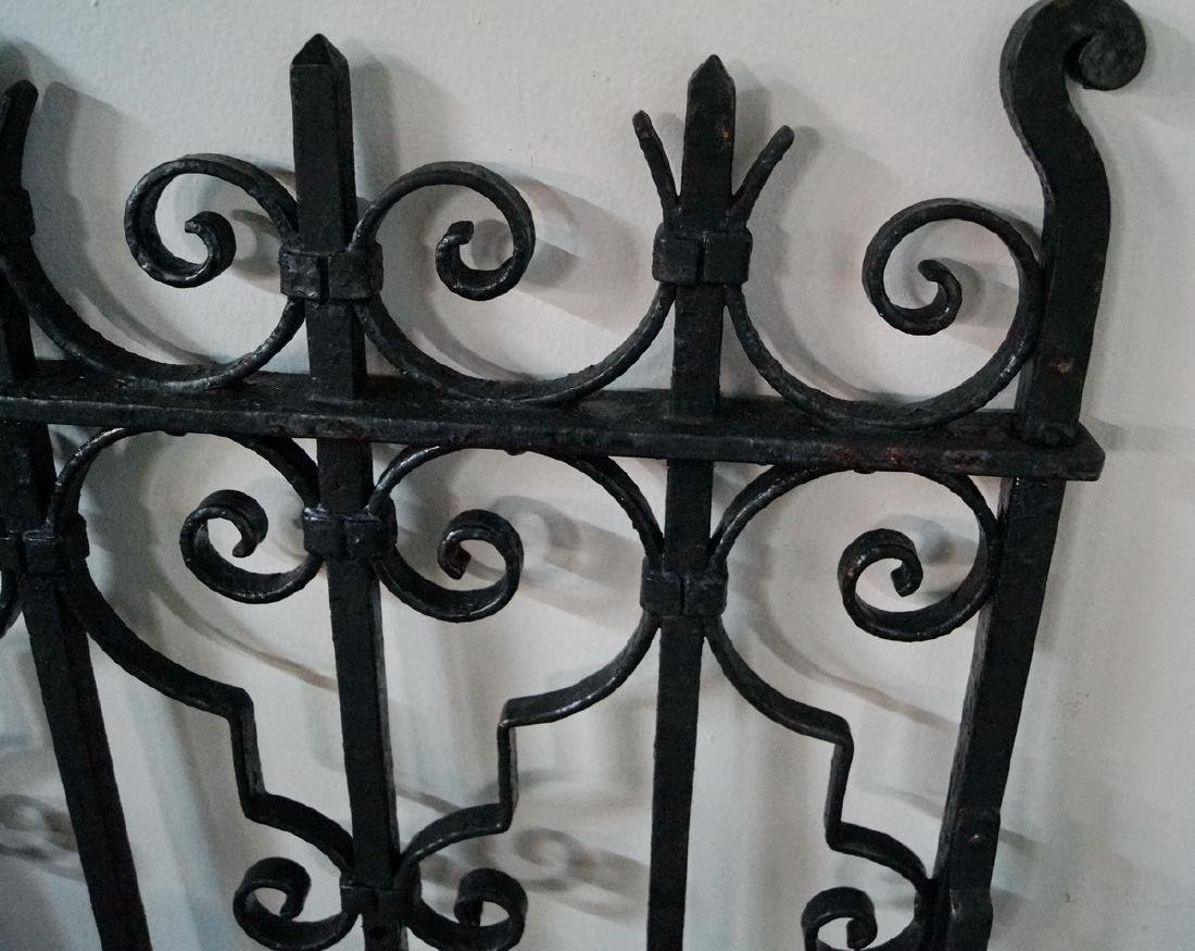 PAINTED WROUGHT IRON GATE W/ SCROLL MOTIF - 2