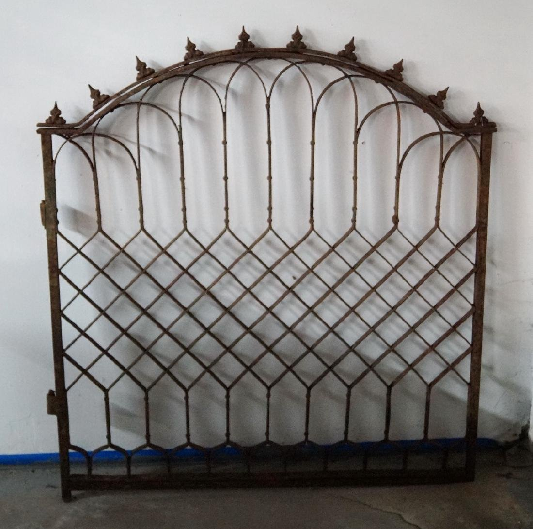 WROUGHT IRON GATE W/ LATTICE MOTIF