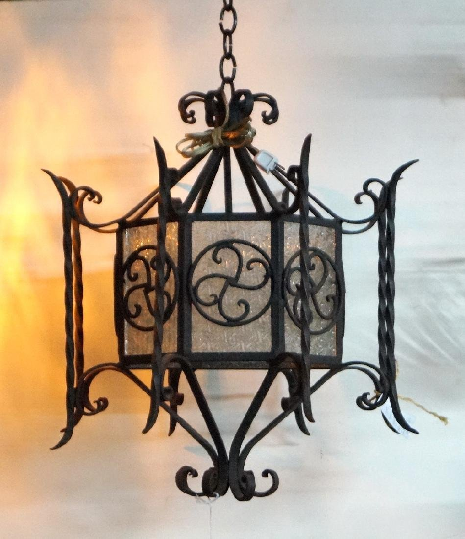 GOTHIC STYLE WROUGHT IRON FIXTURE