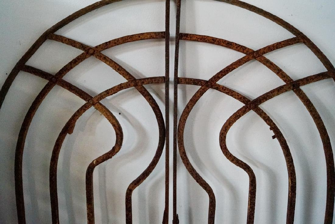 ARCHED WROUGHT IRON DOUBLE GATE - 5