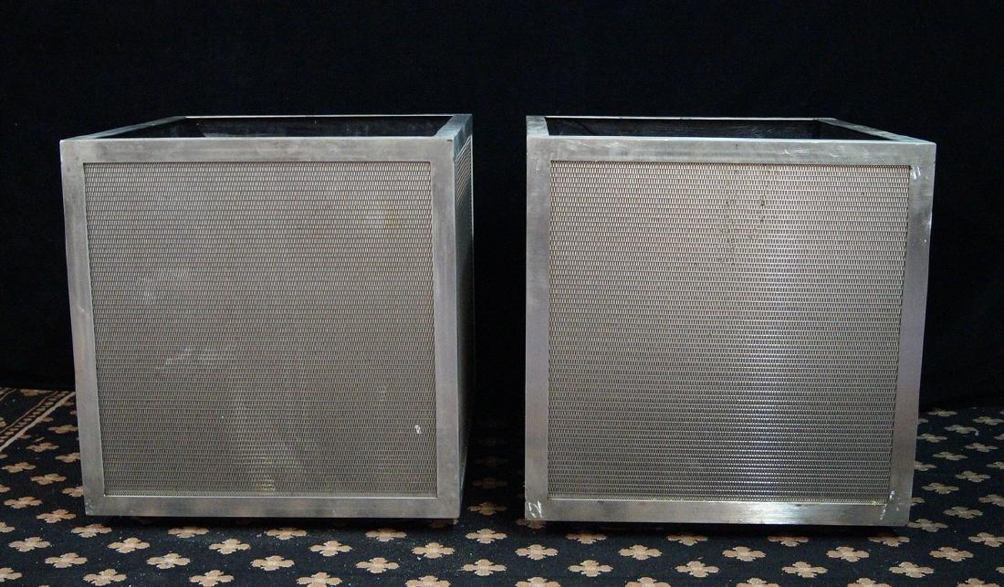 PR. TEAK & STAINLESS STEEL BOX PLANTERS