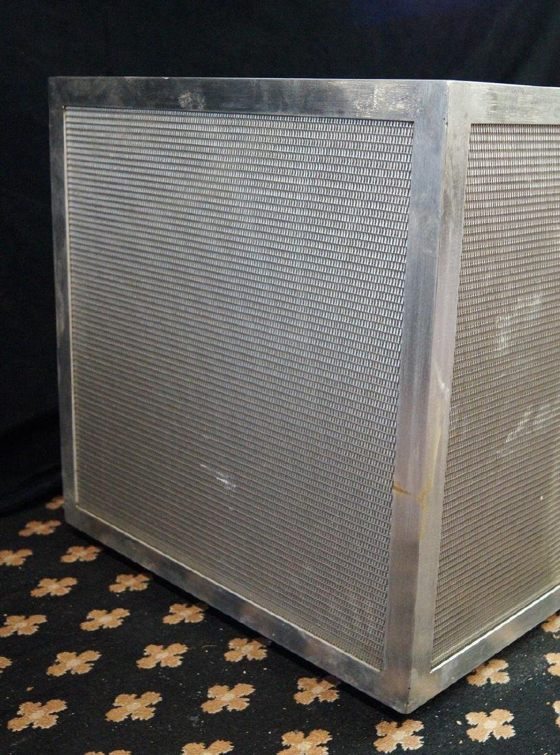 PR. TEAK & STAINLESS STEEL BOX PLANTERS - 2