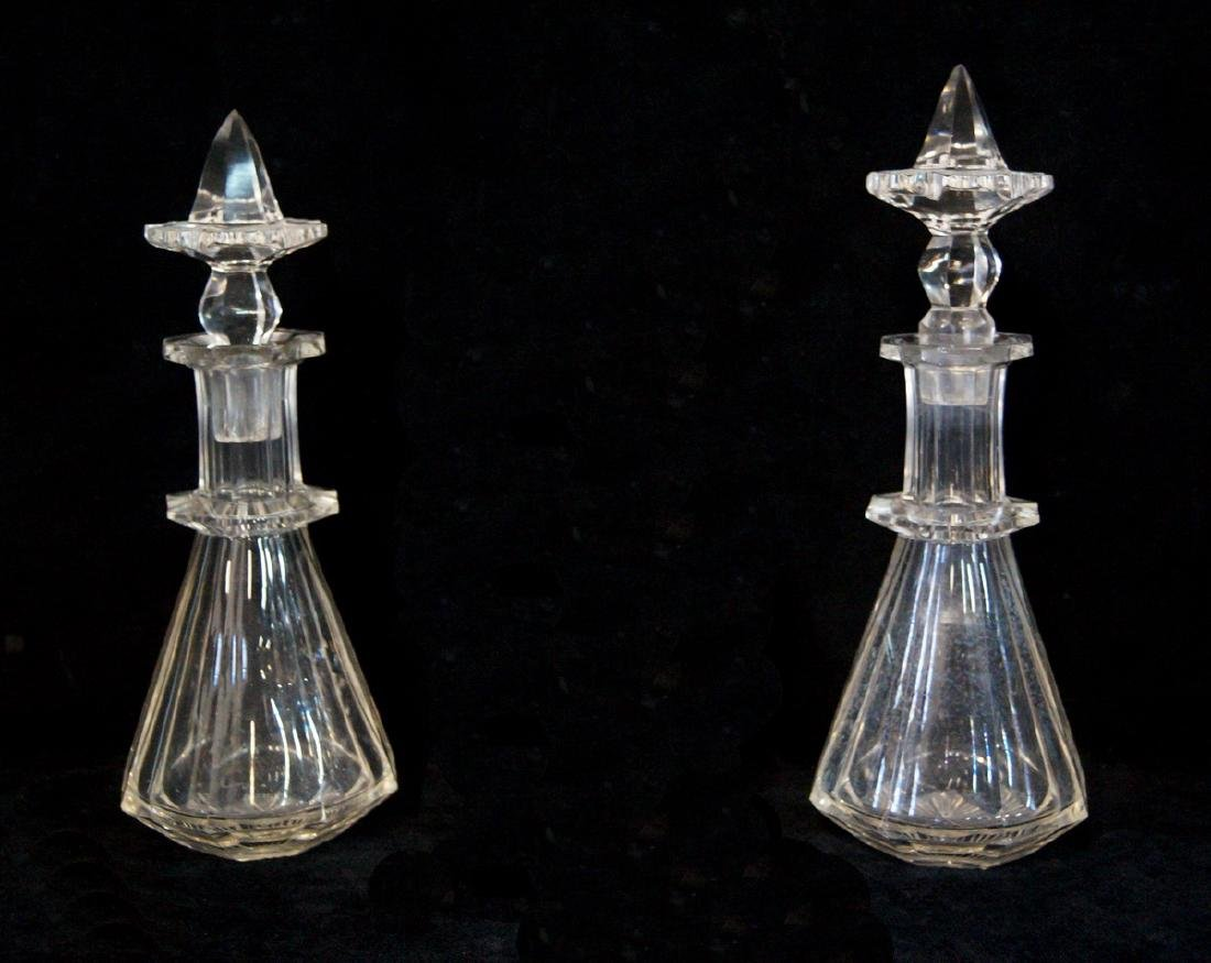 2 CRYSTAL DECANTERS