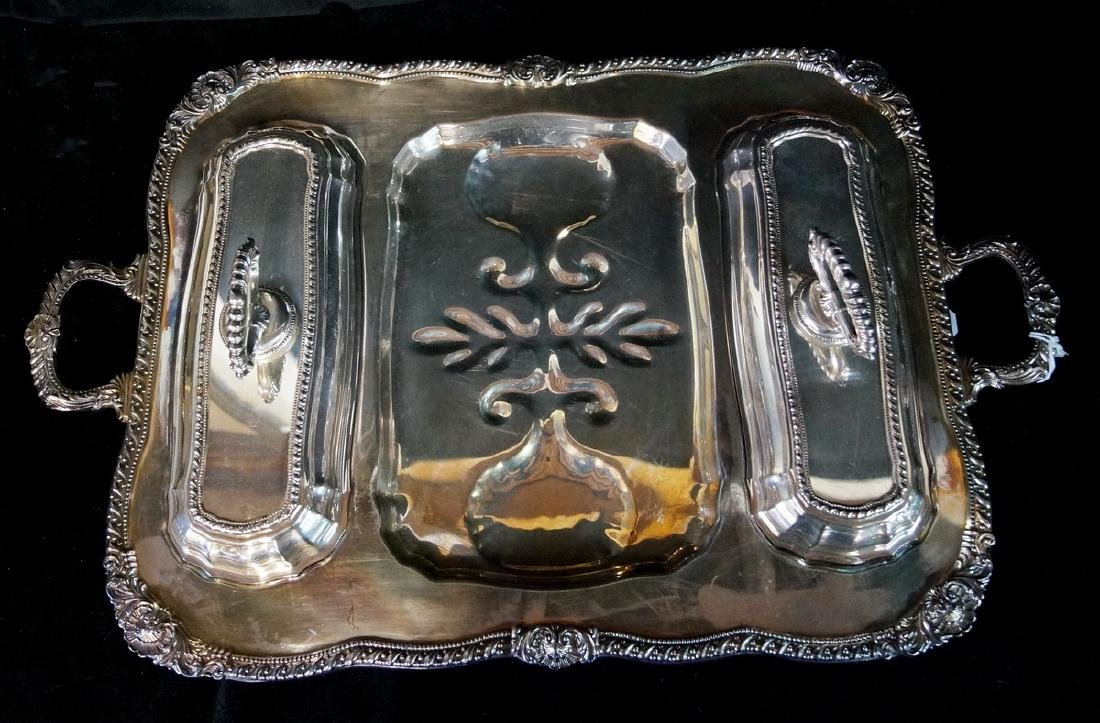 SILVERPLATE SERVICE TRAYS - 2