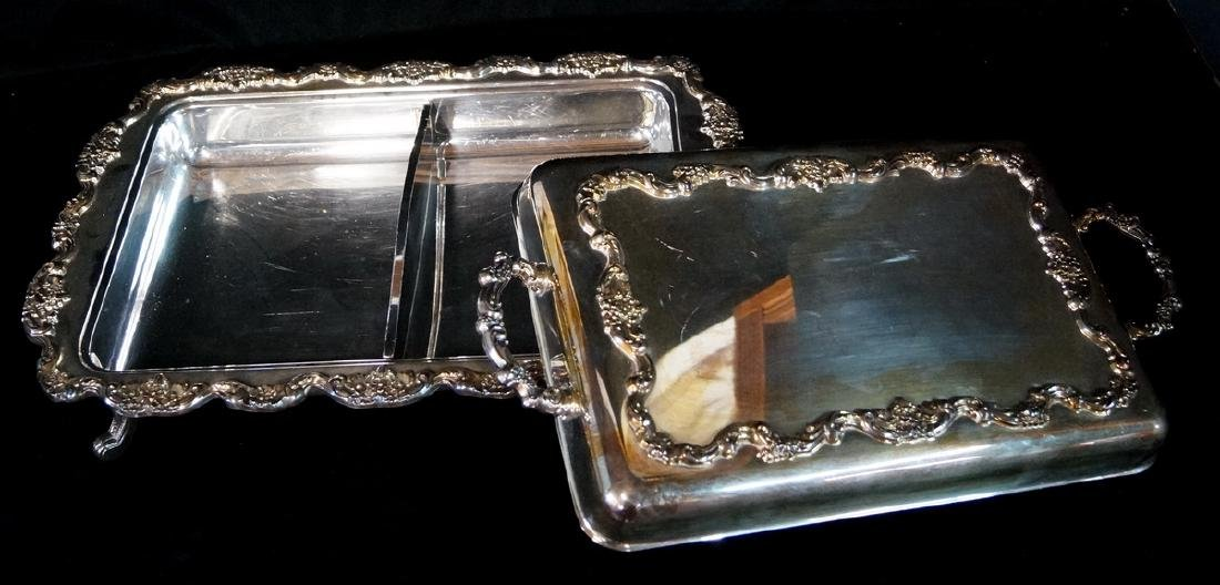 SILVERPLATE SERVICE TRAYS - 5