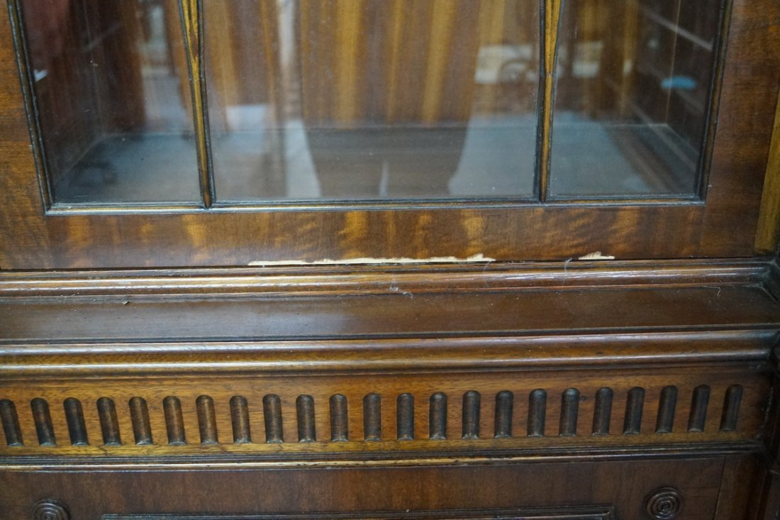 ENGLISH MAHOGANY BREAKFRONT - 2