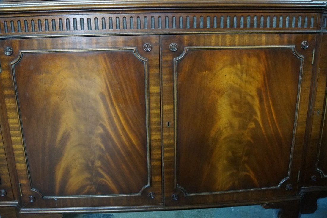 ENGLISH MAHOGANY BREAKFRONT - 3