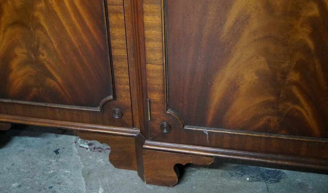 ENGLISH MAHOGANY BREAKFRONT - 4