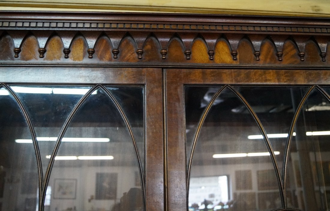 ENGLISH MAHOGANY BREAKFRONT - 5