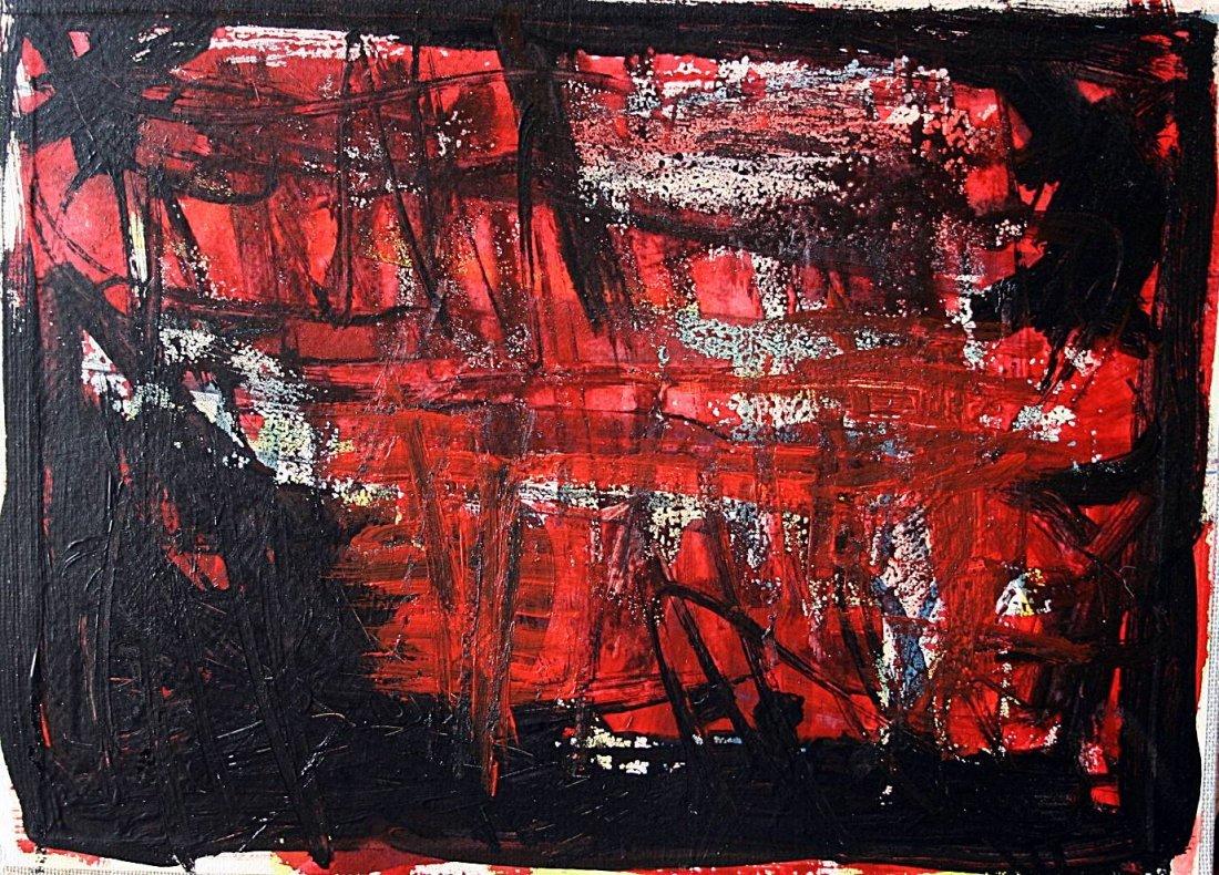 Emilio Vedova - oil on cardboard - italian school