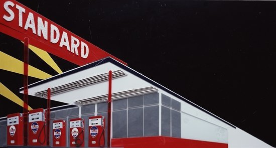 Vik Muniz - Standard Station (Night) after Ed Ruscha