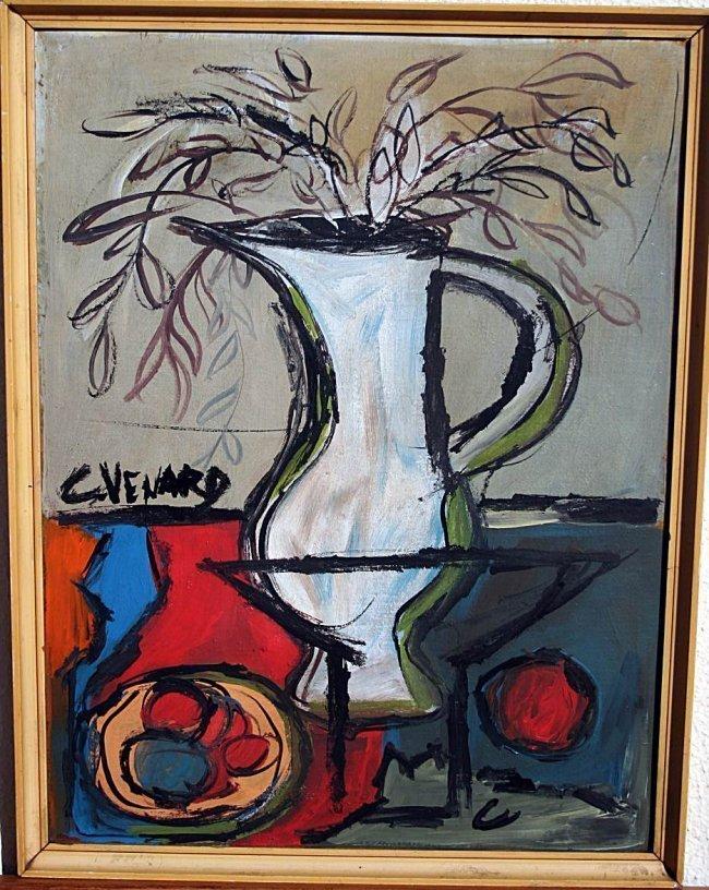 Claude Venard - Oil on cardboard