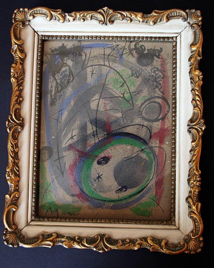 Miró - Oil/mixed media on  cardboard - 1948