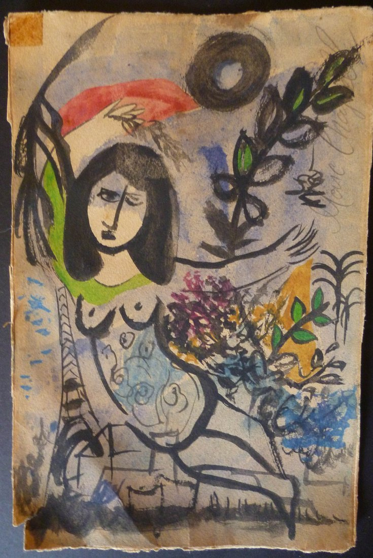 Marc Chagall - Drawing on paper (attrb).