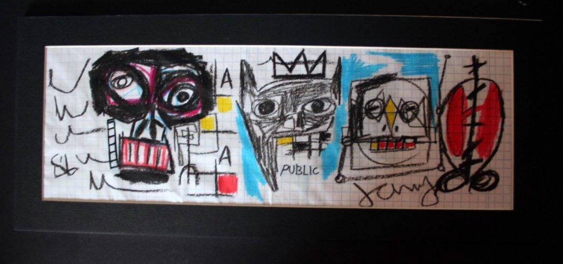 Basquiat - Draw on paper - 1986 - oilstick