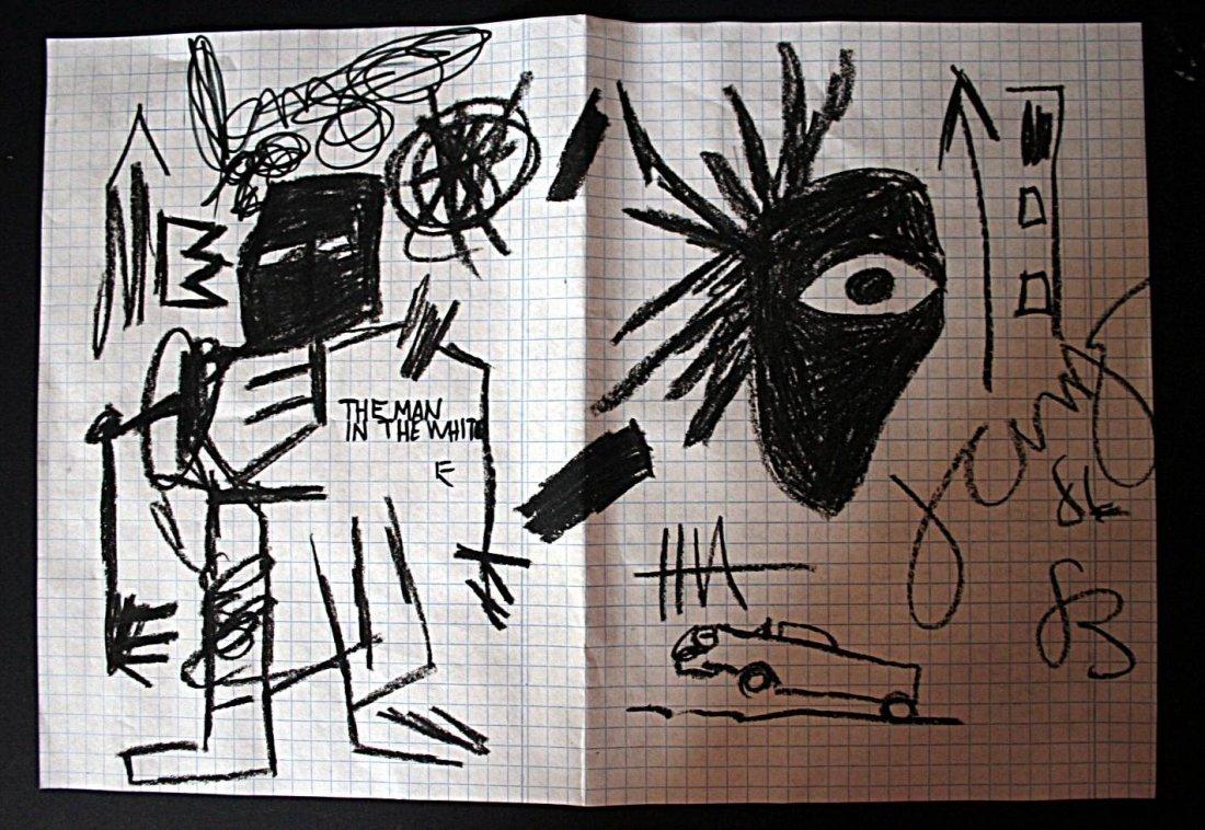 Basquiat - Oilstick drawing - 1986