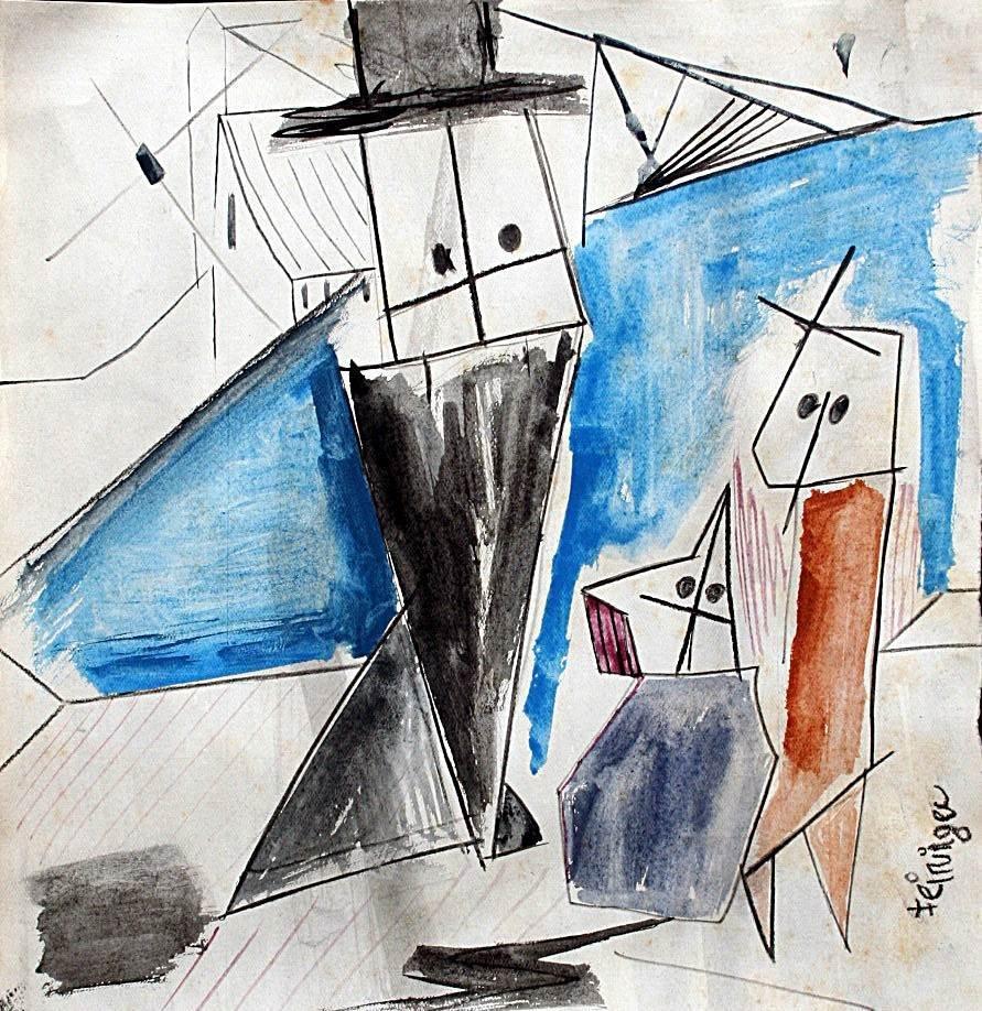 Lyonel Feininger - drawing on paper